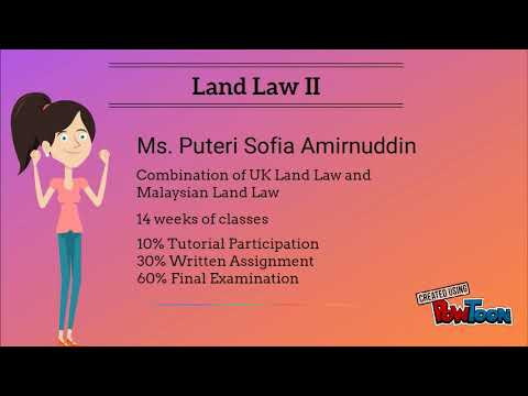 Land Law II - Introductory Class