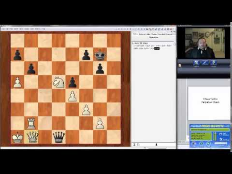 Perpetual check - chess tactics lesson
