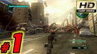 Earth Defense Force 2025 Walkthrough: Part 1 - (Xbox 360 / Playthrough / Gameplay)