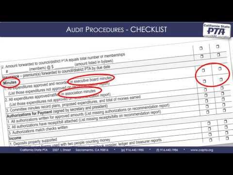 Audit Checklist
