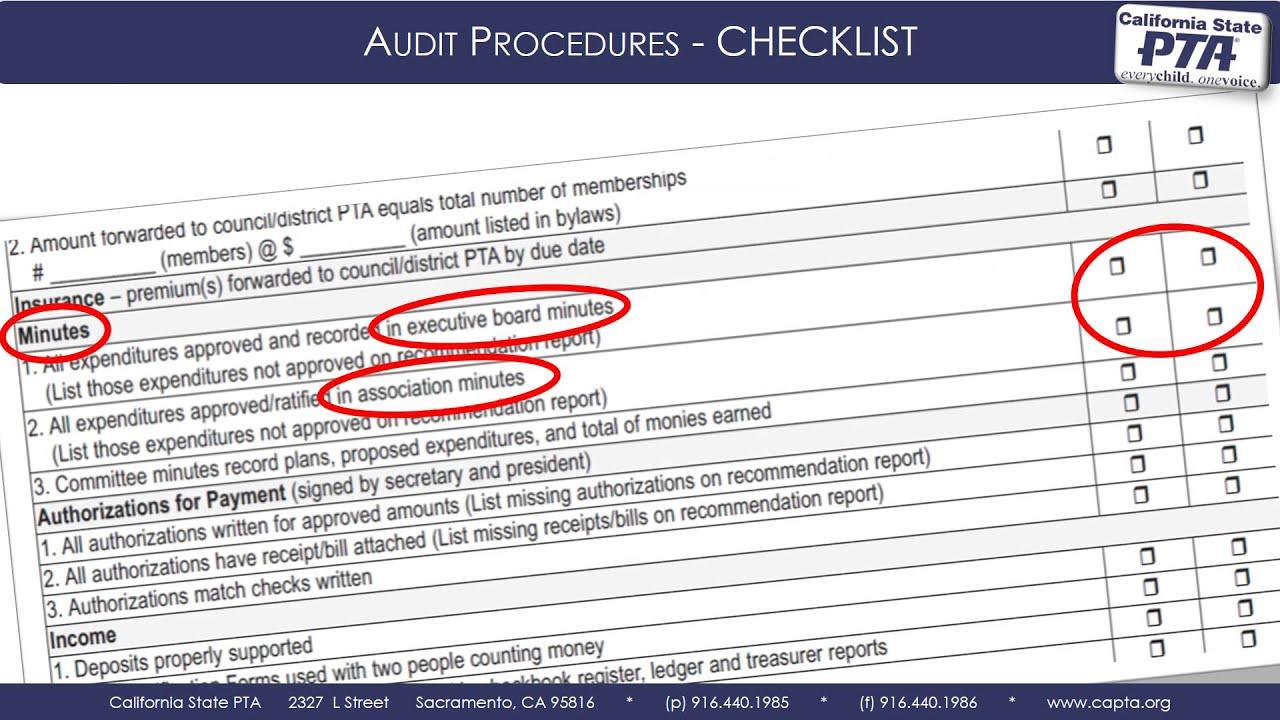 Audit Checklist - YouTube
