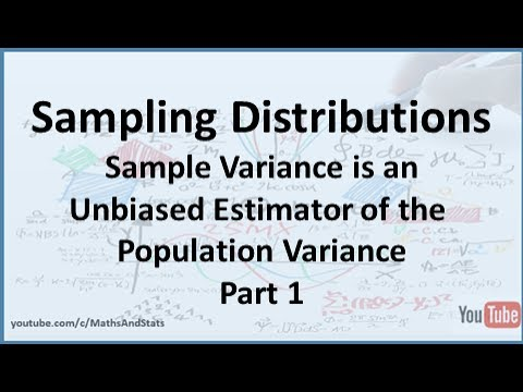 The Sample Variance is an Unbiased Estimator of the Population