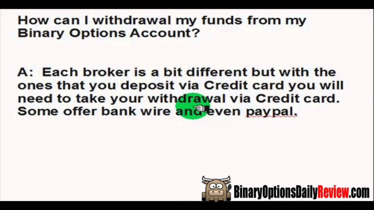 Binary options withdraw
