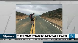 Canadian man hikes 4,200 km for youth mental health