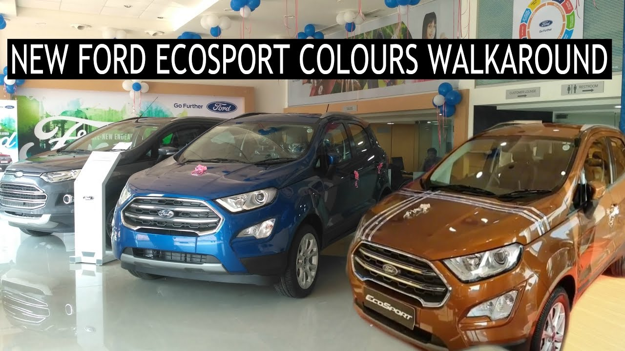 New Ford Ecosport  Colours Walkaround At Launch Canyon Ridge Lightning Blue