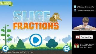 Playing Slice Fractions (iPad / iOS) (KID GAMING)