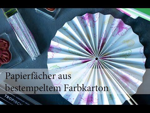 Papierfächer aus bestempeltem Farbkarton