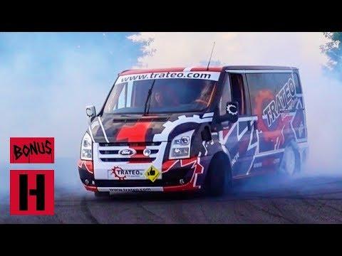 V8 Ford Transit Drift Bus!? Hert and Dan Go For Test Shred