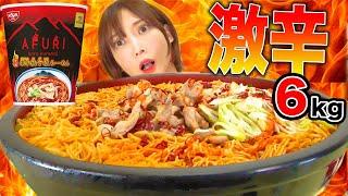 【大食い】AFURI激辛ラーメン10人前!鶏肉とネギと細麺がゆず塩スープと絡んで美味しい![すいかミックススムージー][6kg][5000kcal]【木下ゆうか