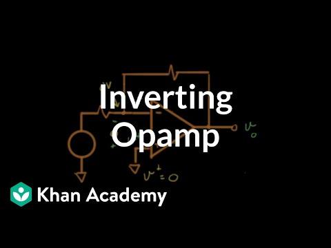 Inverting op-amp circuit
