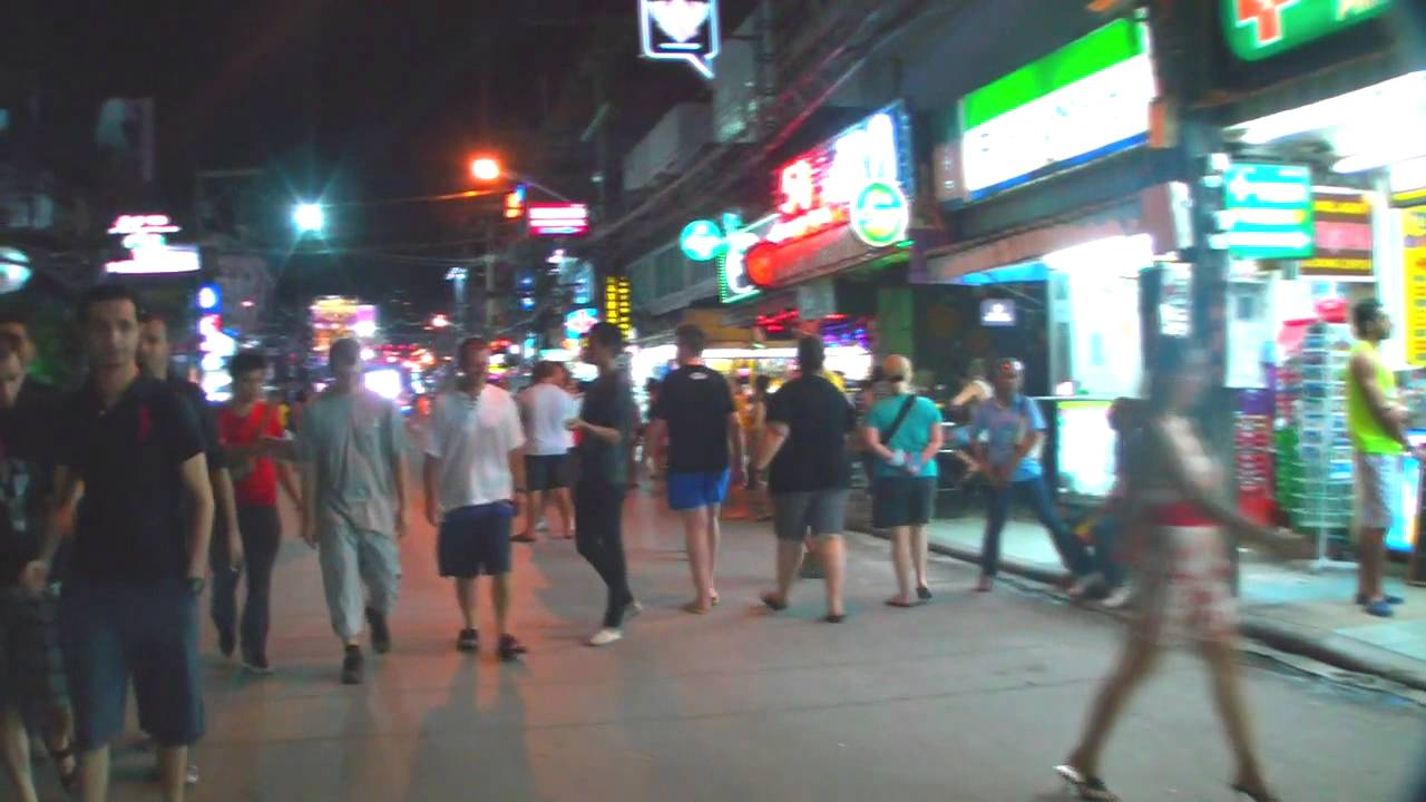 bangla road night walk phuket thailand youtube. Black Bedroom Furniture Sets. Home Design Ideas