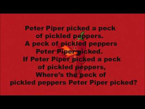 Tongue Twister- Peter Piper