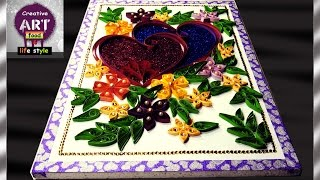 How to make wall hanging   Paper Quilling 2   DIY    Art with Creativity