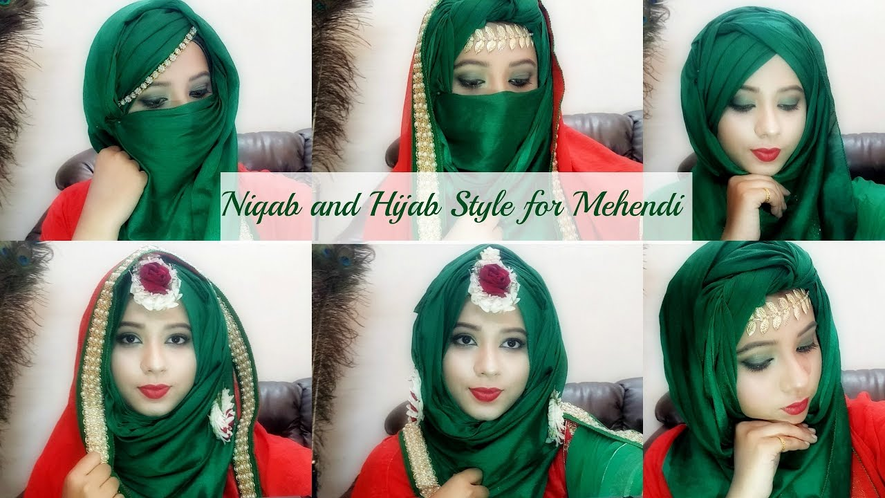 Bridal Mehendi Hijab Niqab Tutorial Easy To Wear Makeup Wedding