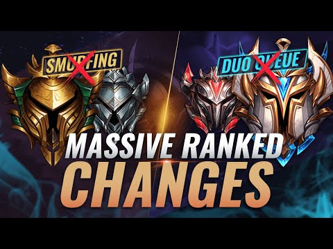 MASSIVE CHANGES: DUO QUEUE REMOVED + Smurfing GONE + Victorious Lucian Skin? - League of Legends