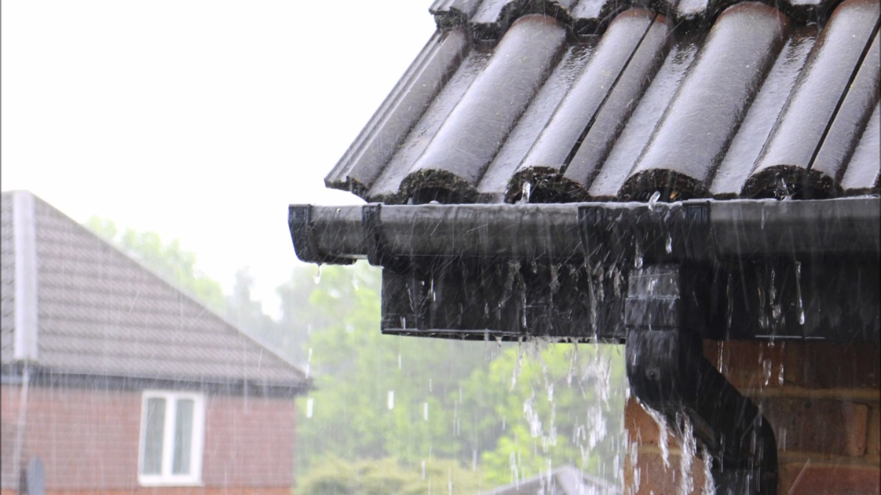 Rain Falling On A Metal Roof 3 Hours No Music Youtube