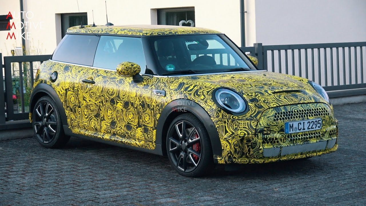 2021 MINI JCW FACELIFT SPIED TESTING AT THE NÜRBURGRING