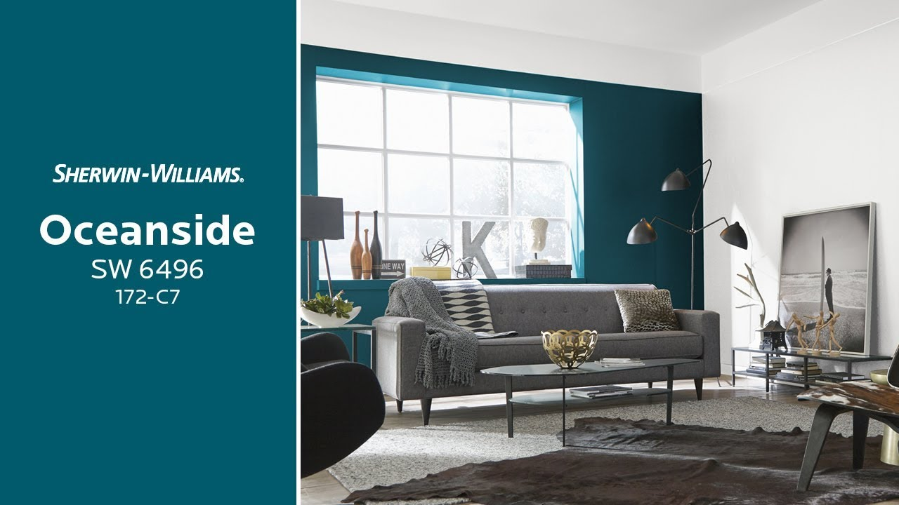 Sherwin Williams: January 2018 Color Of The Month: Oceanside SW 6496