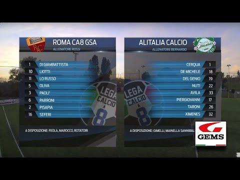 Roma C8 GSA 3-3 Alitalia Calcio | Serie A - 26ª | Highlights