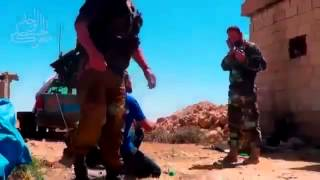 08 12 2013 FSA Shooting Grad Rockets On Syrian Army Syria War