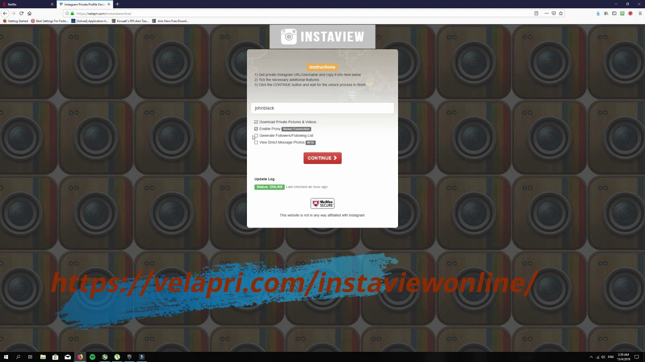 View Private Instagram Accounts with this Online Tool from Velapri