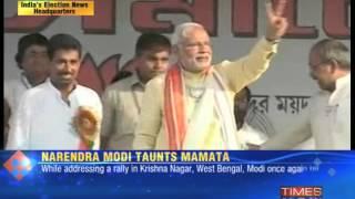 Narendra Modi vs Mamata Banerjee : War of words