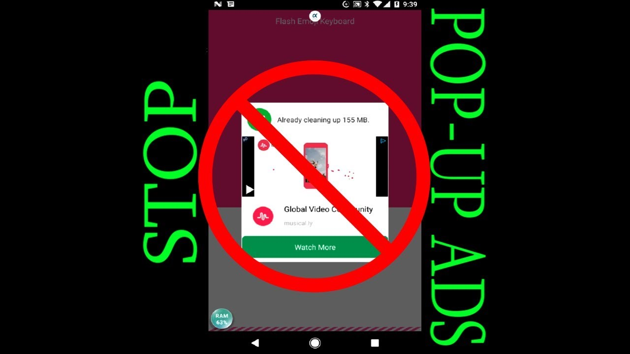 how to get rid of pop up ads on android