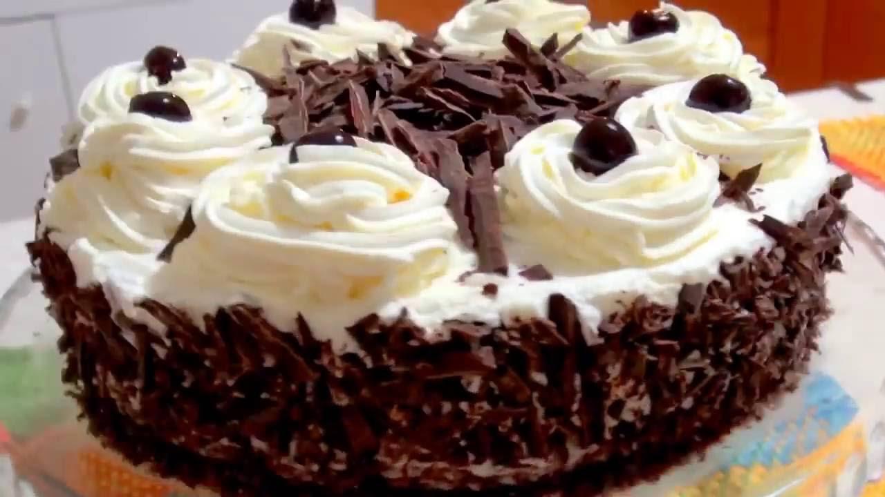Recipe for Black Forest Cake # Schwarzwälder Kirschtorte