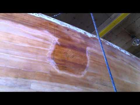 Topsides and bottom sanding - Restoration of Ron Holland IOR racer, Flirt of Paget