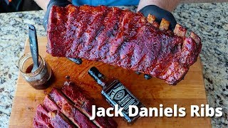 Jack Daniel's Ribs | Smoked Ribs with Jack Daniel's Glaze Recipe on Pellet Grill