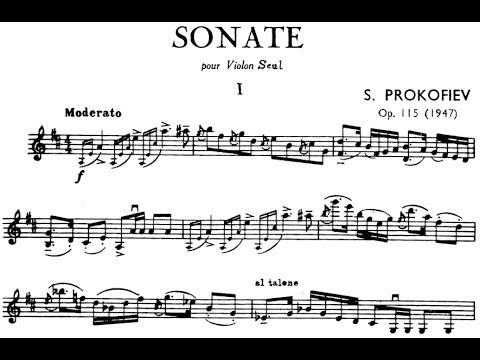 Prokofiev Sonata for Solo Violin in D Major, Op. 115 (Špaček)