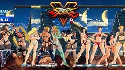 Street Fighter V AE Karin/Cammy/Kolin/R.Mika/Chun Li vs Ibuki/Juri/Sakura/Laura/Lucia PC Mod