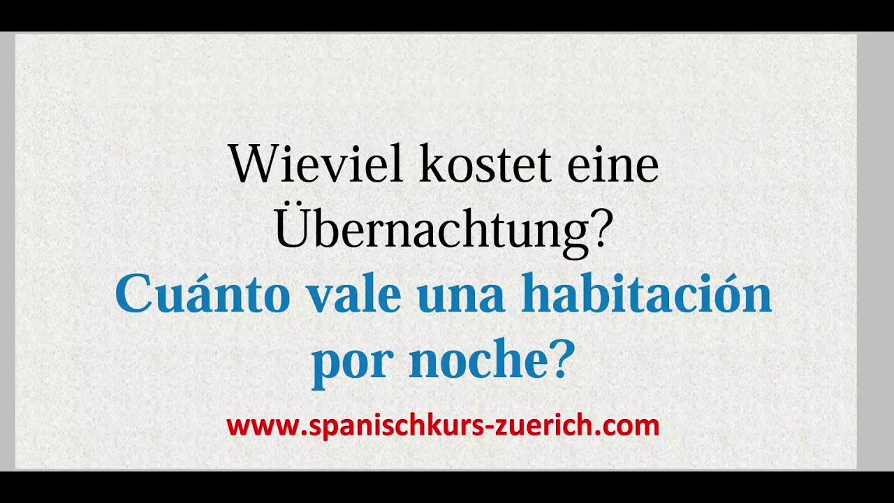 Wieviel Kostet Spanisch