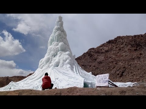 ICE STUPA OF PHYANG,LEH  24th March 2017