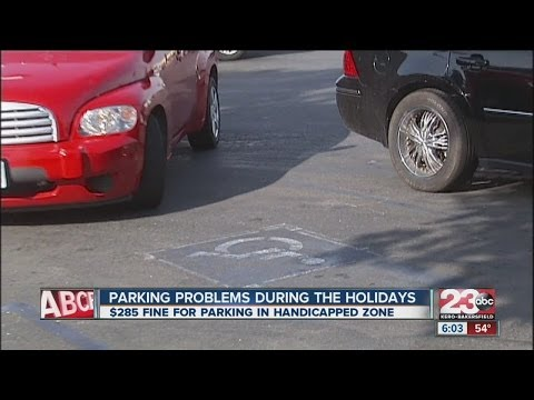 Parking problems during the holidays