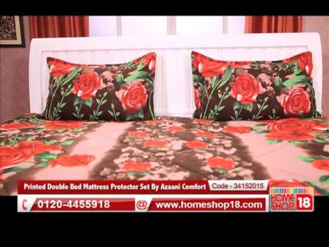Homeshop18.com   Printed Double Bed Mattress Protector Set By Azaani Comfort