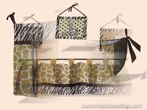 Custom Baby Beddings (Sisi Baby Designs) - African Safari Baby Bedding
