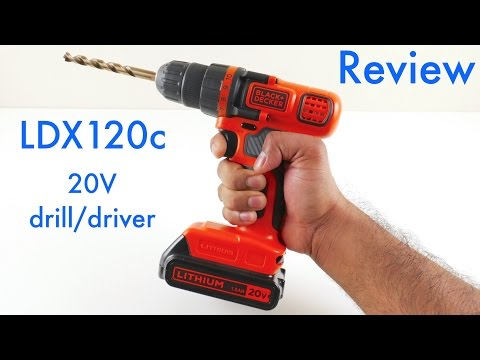 Black & Decker LDX120c Review - 20 Volt Lithium-ion Cordless Drill/driver