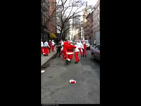 Deanna King - WATCH: Dozen of Santas Brawl Set to Christmas Music