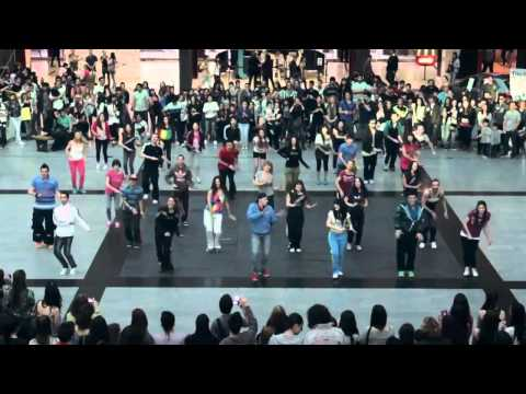 World Best FlashMob (Flashmob Buenos Aires Peacock California Gurls Teenage Dream Firework)