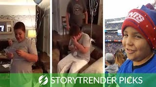 Boy Surprised With NY Giants Tickets