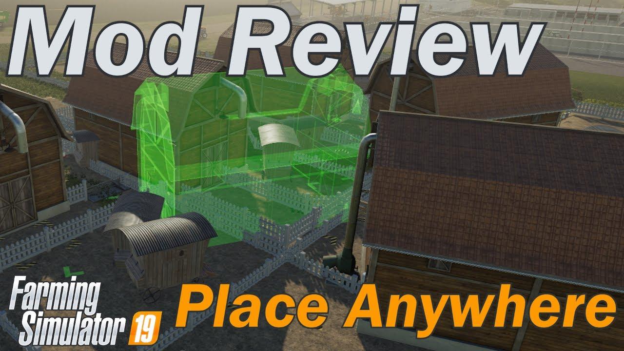 Place anywhere mod v 1 0 | FS19 mods, Farming simulator 19 mods