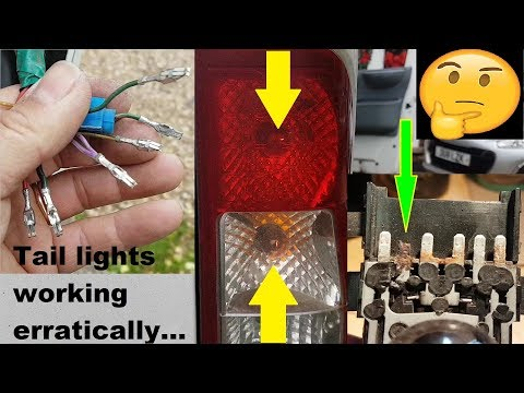Ford Transit rear lights not working correctly. Fault finding and repair.