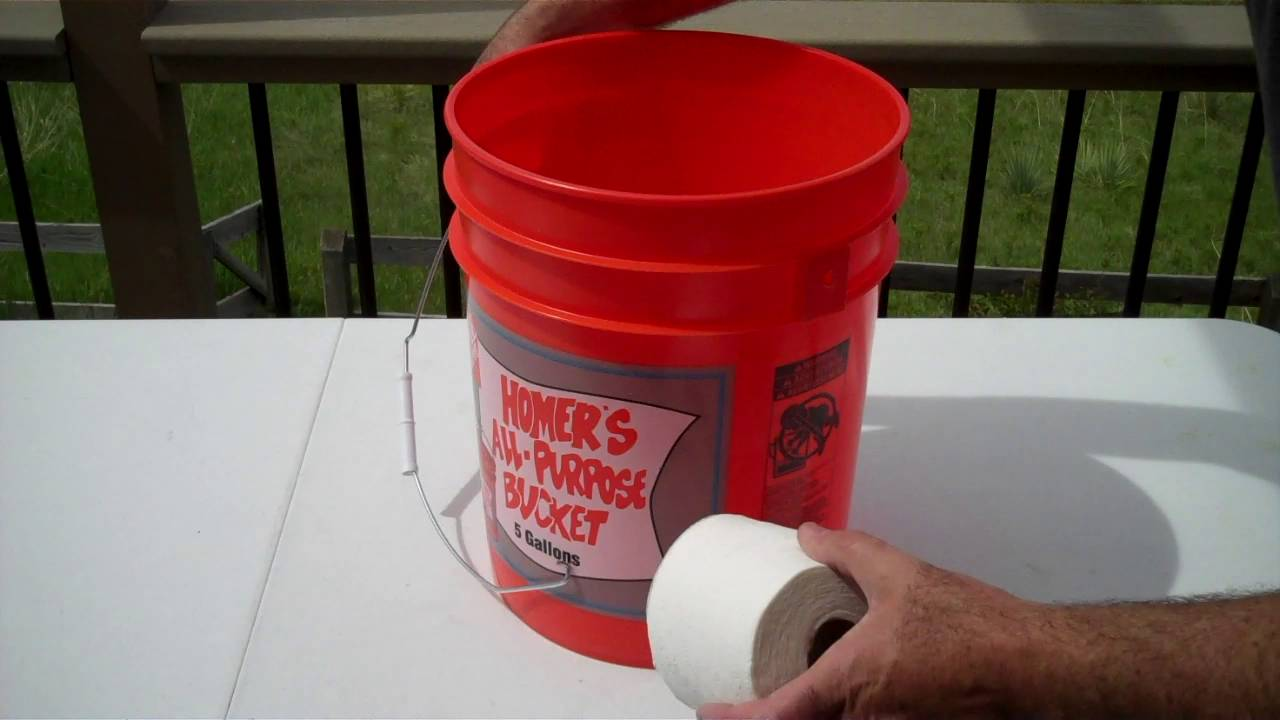 Emergency Bucket Toilet