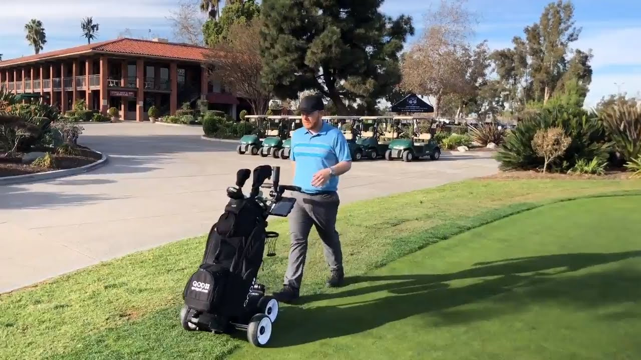 Electric Golf Caddy Cart Motorized Push Qod Usa Video Review Demonstration