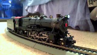 mth ho scale prr k4 1737 pulling the broadway limited