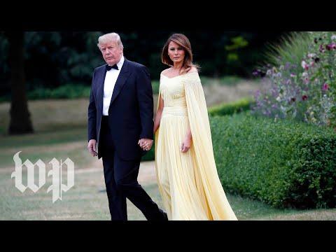 Trump attends gala at Blenheim Palace