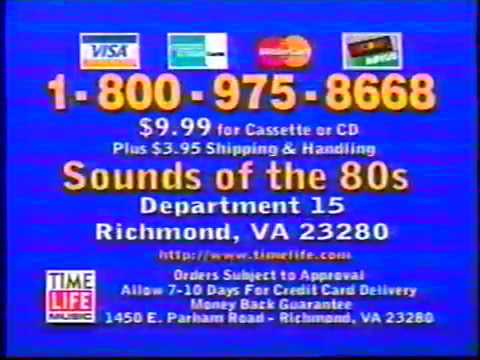 Sounds of the 80's Music Collection TV Ad - 1996