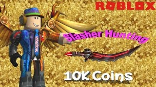 Hunting Slasher in Roblox Murder Mystery 2 (10K coins)