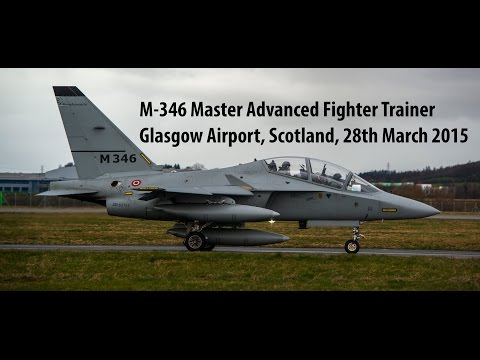 M-346 Master Advanced Fighter Trainer - Glasgow Airport, Scotland 28-03-2015